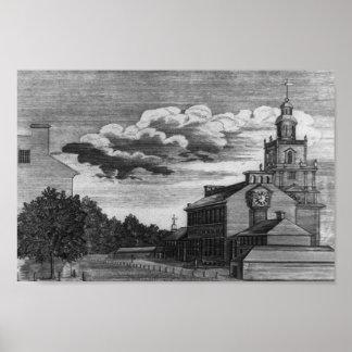 フィラデルヒィア1778年の州の家 ポスター