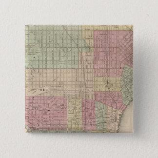 フィラデルヒィア2 5.1CM 正方形バッジ
