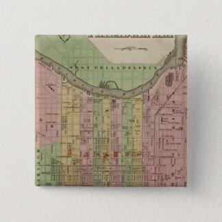 フィラデルヒィア6 5.1CM 正方形バッジ