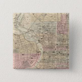 フィラデルヒィア、キャムデン2 5.1CM 正方形バッジ