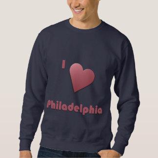 フィラデルヒィア -- バーガンディ スウェットシャツ