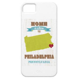 フィラデルヒィア、ペンシルバニアの地図-ところでがあります家 iPhone SE/5/5s ケース