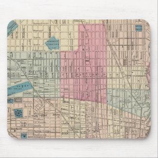 フィラデルヒィア、ペンシルバニアの地図 マウスパッド