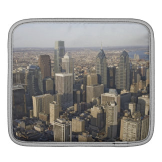 フィラデルヒィア、ペンシルバニアの空中写真 iPadスリーブ