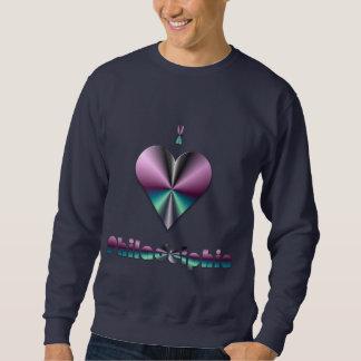 フィラデルヒィア-紫色及びターコイズ スウェットシャツ