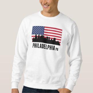 フィラデルヒィアPAの米国旗 スウェットシャツ