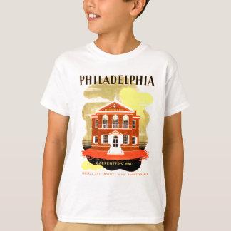 フィラデルヒィアPa。 ホールのWPA 1936のTシャツ大工 Tシャツ