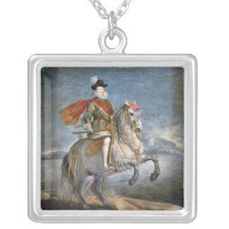 フィリップの乗馬のポートレートIII c.1628-35 シルバープレートネックレス