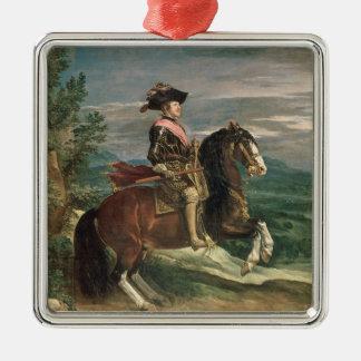 フィリップの乗馬のポートレートIV c.1636 メタルオーナメント