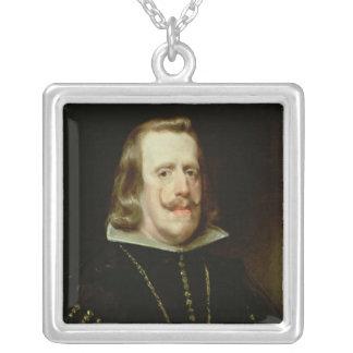 フィリップスペインのIV、c.1656 シルバープレートネックレス