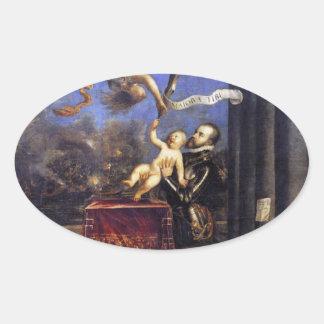 フィリップ勝利TitianへのII提供のドンフェルナンド 楕円形シール