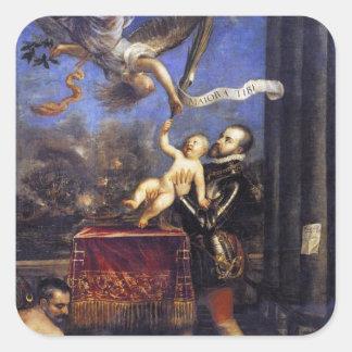 フィリップ勝利TitianへのII提供のドンフェルナンド 正方形シールステッカー