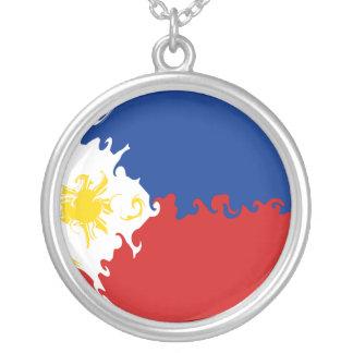 フィリピンのすごい旗 シルバープレートネックレス