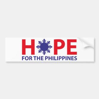 フィリピンのための希望 バンパーステッカー