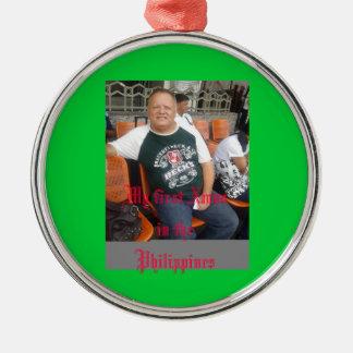 フィリピンのクリスマスのオーナメントの私の最初クリスマス メタルオーナメント