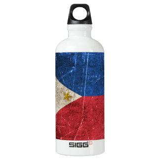 フィリピンのヴィンテージの老化させ、傷付けられた旗 ウォーターボトル