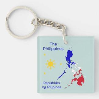 フィリピンの地図の絵Keychain キーホルダー