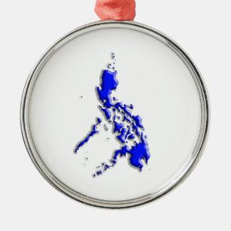 フィリピンの地図 メタルオーナメント