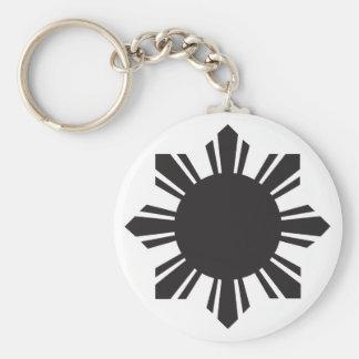 フィリピンの太陽の黒 キーホルダー