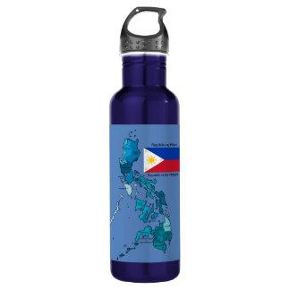 フィリピンの旗そして地図 ウォーターボトル