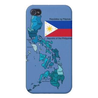 フィリピンの旗そして地図 iPhone 4/4S CASE