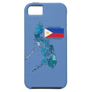フィリピンの旗そして地図 iPhone SE/5/5s ケース