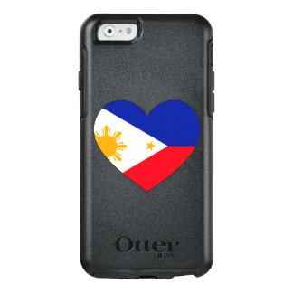 フィリピンの旗のハート オッターボックスiPhone 6/6Sケース