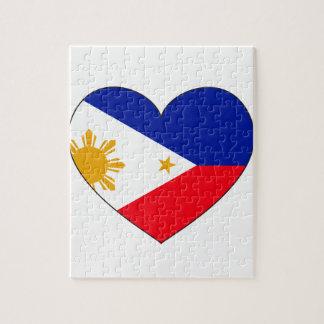 フィリピンの旗のハート ジグソーパズル
