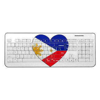 フィリピンの旗のハート ワイヤレスキーボード
