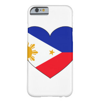 フィリピンの旗のハート BARELY THERE iPhone 6 ケース