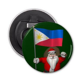 フィリピンの旗を持つサンタクロース 栓抜き