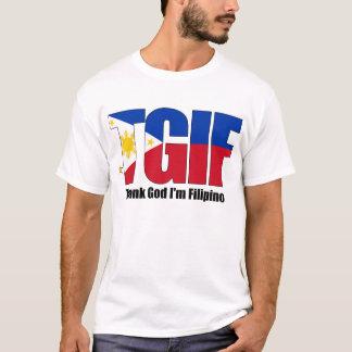 フィリピンの旗を持つTGIFのフィリピン人 Tシャツ