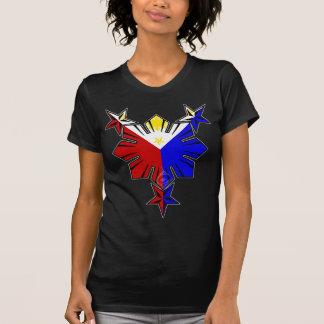 フィリピンの旗日曜日および星のワイシャツ Tシャツ