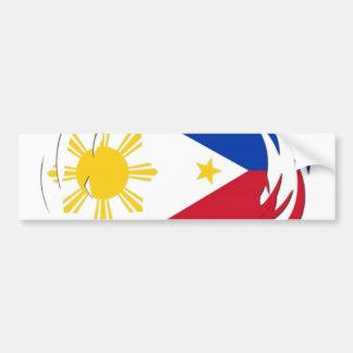 フィリピンの旗 バンパーステッカー