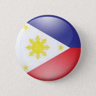 フィリピンの旗(円形) 5.7CM 丸型バッジ