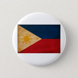 フィリピンの旗 5.7CM 丸型バッジ