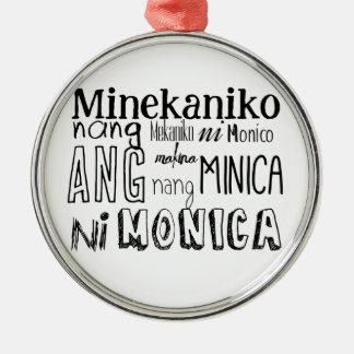フィリピンの早口言葉シリーズ メタルオーナメント