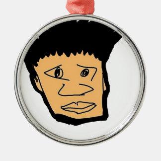 フィリピンの男の子の漫画の顔のコレクション メタルオーナメント