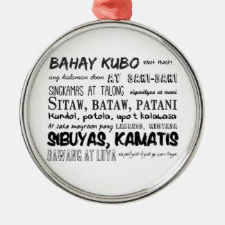 フィリピンの童謡シリーズ メタルオーナメント