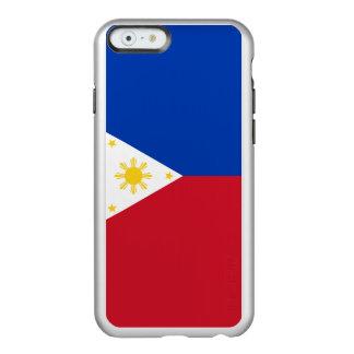 フィリピンの銀製のiPhoneの例の旗 Incipio Feather Shine iPhone 6ケース
