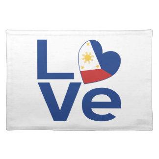 フィリピンの青い愛 ランチョンマット