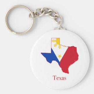 フィリピンはテキサス州の州の地図に印を付けます キーホルダー