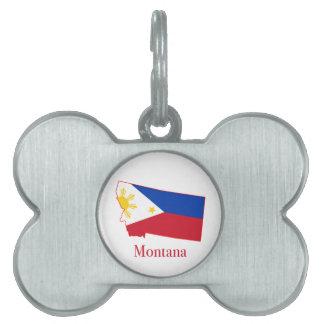 フィリピンはモンタナの州の地図に印を付けます ペットネームタグ