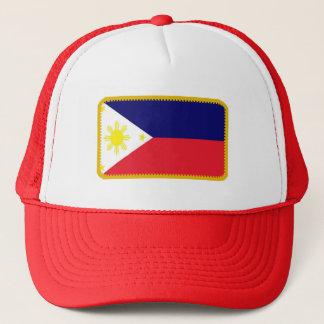 フィリピンは刺繍された効果の帽子に印を付けます キャップ