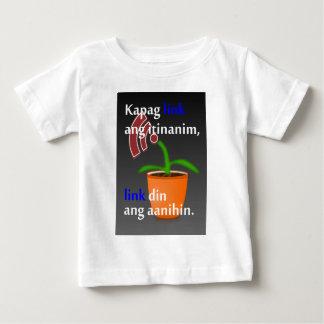 フィリピン人のおもしろいなブロガーの引用文: リンク建物 ベビーTシャツ