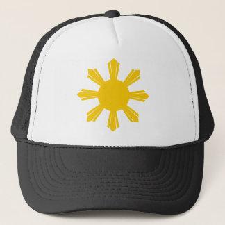 フィリピン人の太陽が付いているメンズTシャツ キャップ