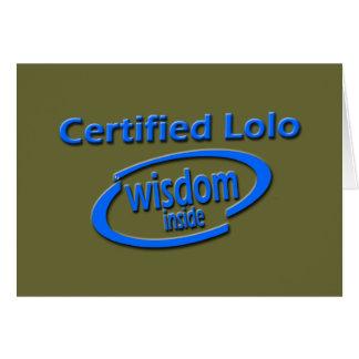 フィリピン人のLoloのギフト- Loloの証明された知恵中 カード
