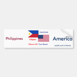 フィリピン人アメリカ バンパーステッカー