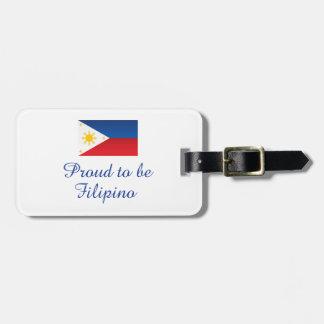 フィリピン人1があること誇りを持った ラゲッジタグ