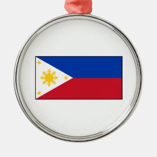 フィリピン-フィリピンの旗 メタルオーナメント